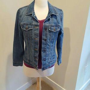 Blue denim jean jacket